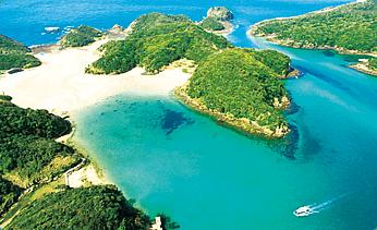 写真:上空から撮った島の写真