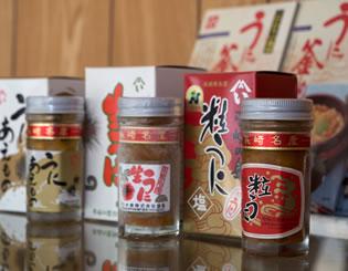 写真:壱岐水産株式会社で加工され商品となったウニ。
