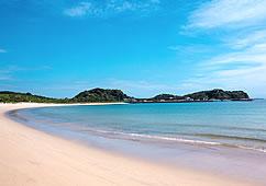 写真:壱岐のか砂浜と海